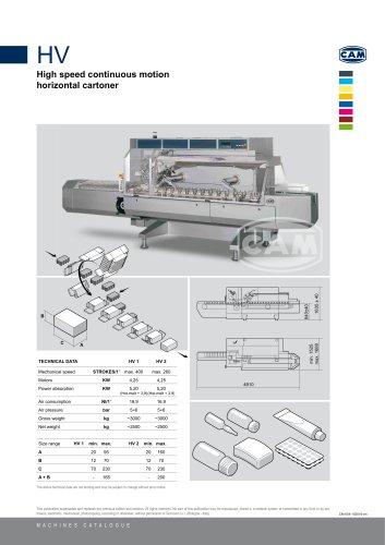 HV continuous motion horizontal cartoner