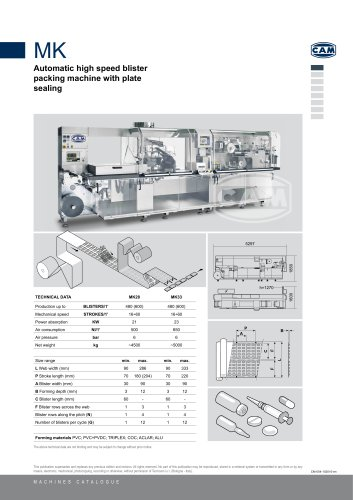 MK automatic blister packing machine
