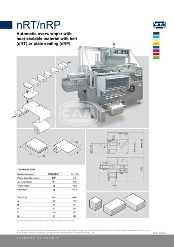 nRT/nRP automatic overwrapper with belt or plate sealing