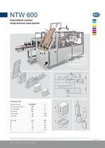 NTW600 intermittent motion wrap-around case packer