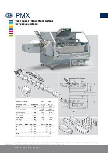 PMX intermittent motion horizontal cartoner