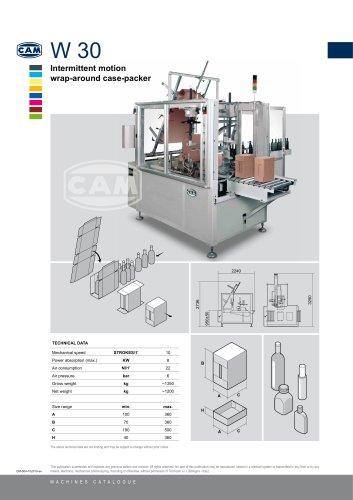 W30 intermittent motion wrap-around case packer
