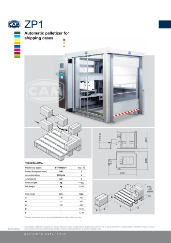 ZP1 automatic palletizer for shipping cases