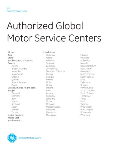 Authorized Global  Motor Service Centers
