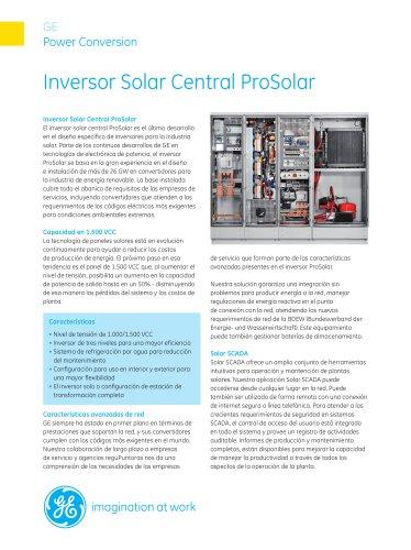 Inversor Solar Central ProSolar