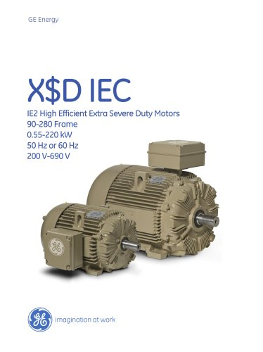 X$D IEC - IE2 High Efficient Extra Severe Duty Motors
