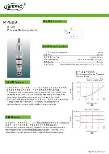 Cartridge pressure relief valve MPBBB