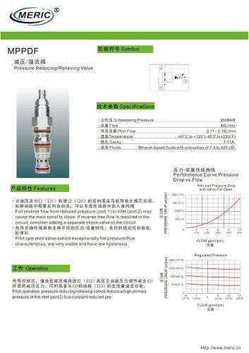 Cartridge pressure relief valve MPPDF
