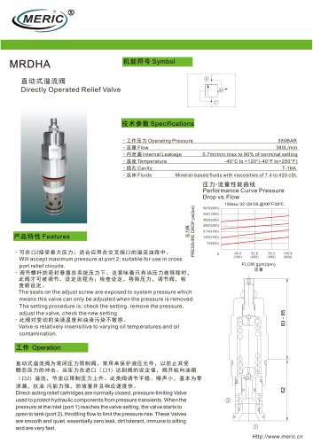 Direct-operated relief valve MRDHA series