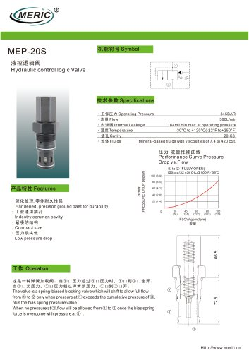 Logic function valve MEP-20S