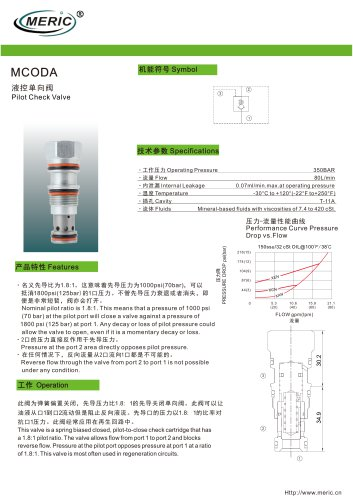 Pilot-operated check valve MCODA