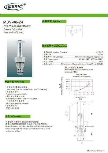 Spool hydraulic directional control valve MSV-08-24