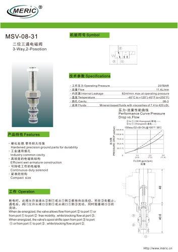 Spool hydraulic directional control valve MSV-08-31