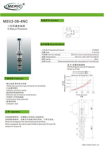 Spool hydraulic directional control valve MSV2-08-4NC