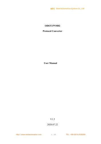 ODOT-PNM02 User Manual_V1.5.