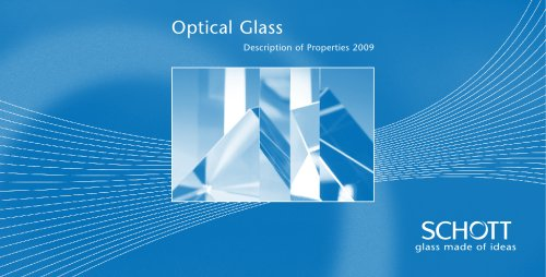 Optical Glass Catalogue 2010