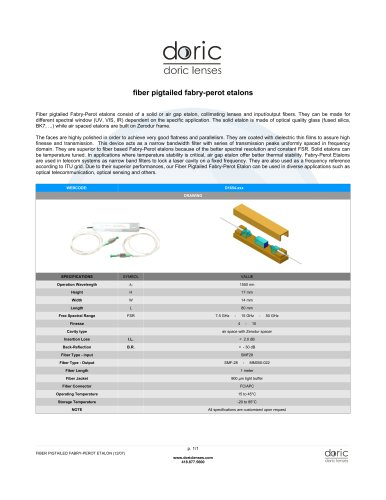 Fiber Pigtailed Fabry-Perot Etalon