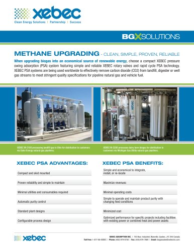 Biogas Purification Systems BGX Solutions