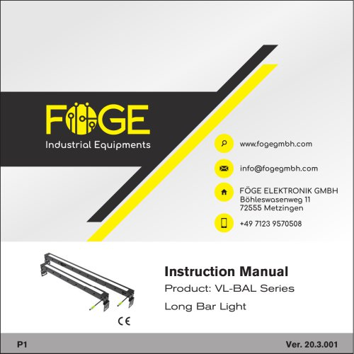 Long Bar Light VL-BAL Series