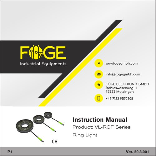 Ring Light VL-RGF Series