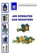 Air operated gas boosters
