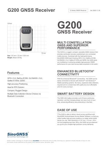 G200 GNSS Receiver