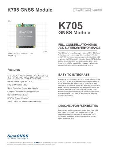 K705 GNSS OEM Board