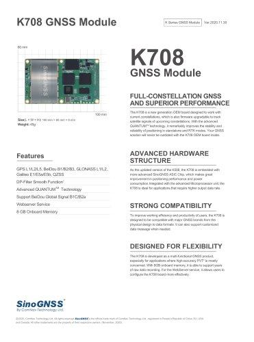 K708 GNSS OEM Board