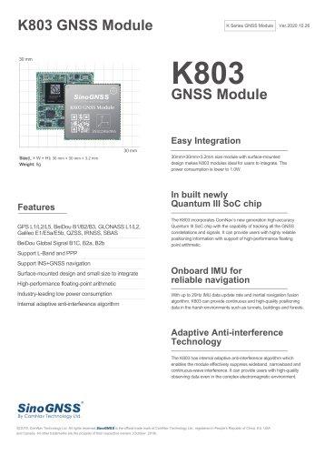 K803 GNSS OEM Module