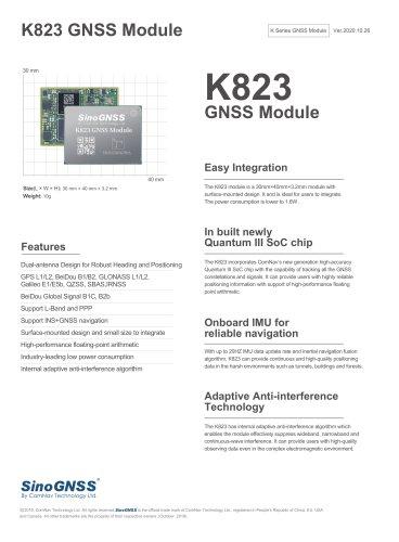 K823 GNSS OEM Module