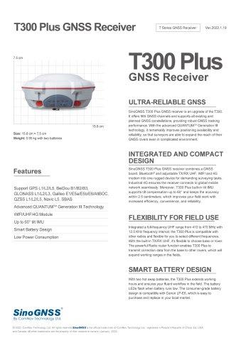 T300 Plus GNSS Receiver