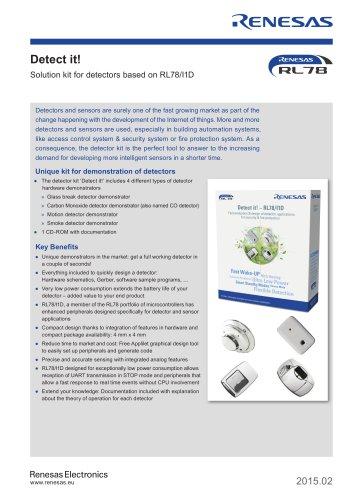 Detect it! Solution kit for detectors based on RL78/I1D