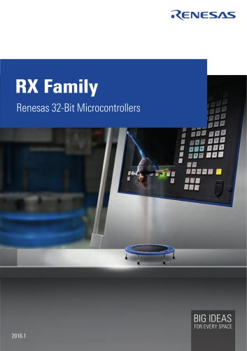 Renesas 32-Bit Microcontrollers RX Family