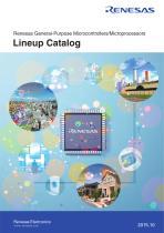 Renesas General-Purpose Microcontrollers/Microprocessors Lineup Catalog