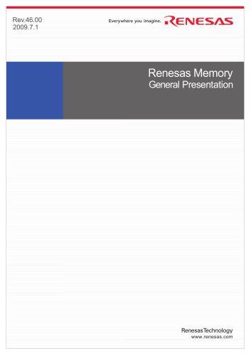 Renesas Memory General Presentation