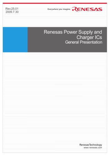 Renesas Power Supply & Charger IC General Presentation