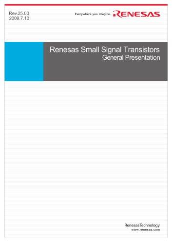 Renesas Small Signal Transistors General Presentation