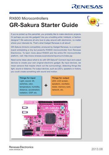 RX600 Microcontrollers GR-Sakura Starter Guide