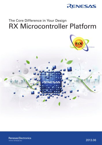 The Core Difference in Your Design : RX Microcontroller Platform