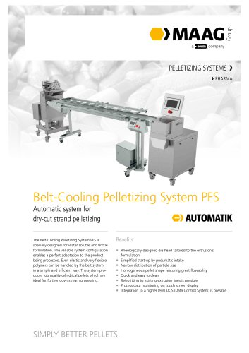 Belt-Cooling Pelletizing System PFS Series 30