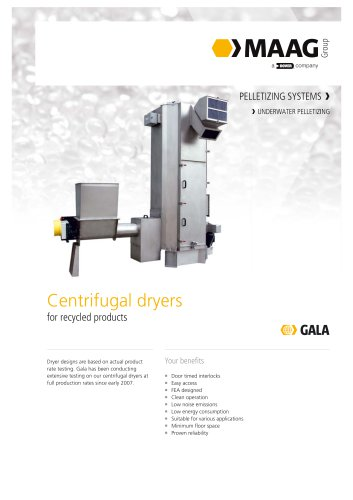 Centrifugal Dryer for Recycled Products