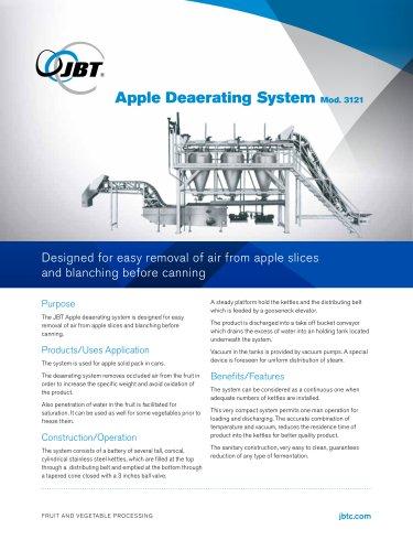 Apple Deaerating System