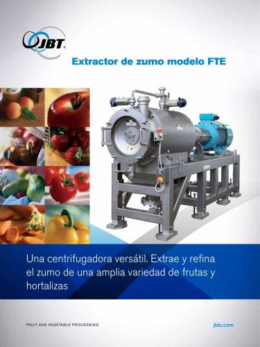 Extractor de zumo modelo FTE