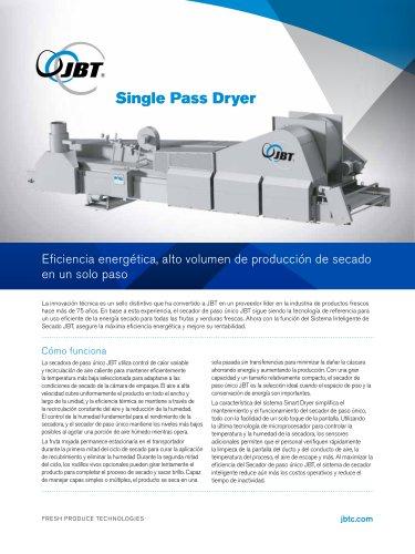 Single Pass Dryer