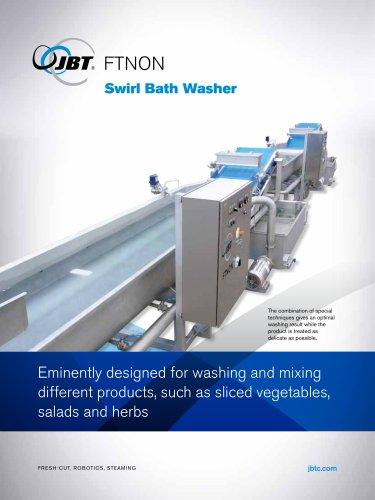 Swirl bath washer