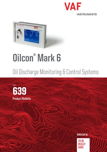 Oilcon® Mark 6 Oil Discharge Monitoring & Control Systems