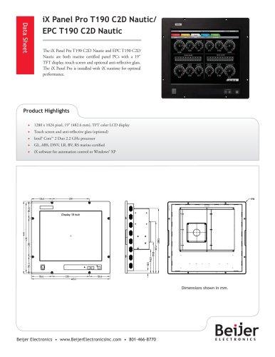 iX Panel Pro T190 C2D Nautic/ EPC T190 C2D Nautic
