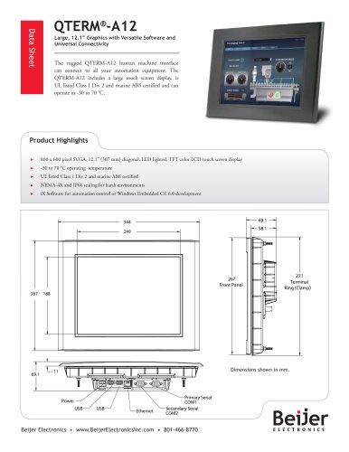 Large screen QTERM-A12 Data Sheet