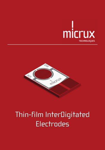 Thin-film InterDigitated Electrodes