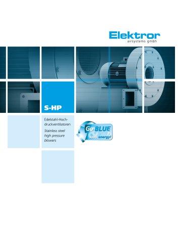 Stainless Steel Blowers, radial, high pressure S-HP